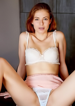 Naked Redhead Teen Hilary C In White Panties
