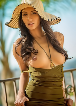 Gianna Dior takes you to the tropics and takes her clothes off