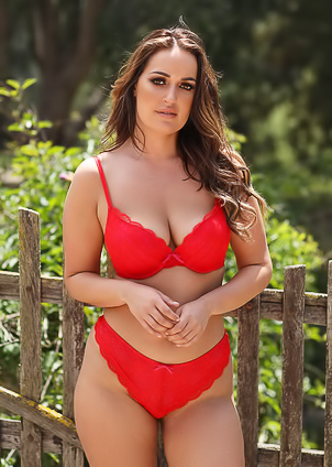 Frankie L Strips Her Red Bikini And Shows Her Boobies