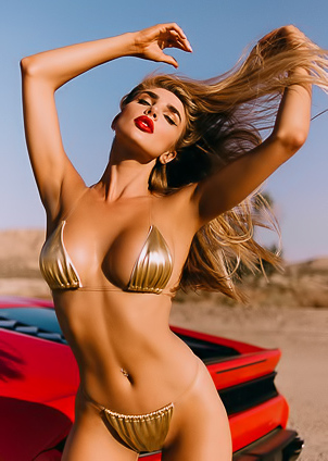 Glamour And Busty Miss Kenzie Anne Loves Sport Cars